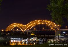 Memphis-Desoto Bridge. One final shot I grabbed that night just to get a slightly different angle.