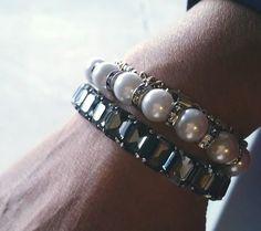 Classic Pearl Stretch Bracelet Set   Chloe + Isabel