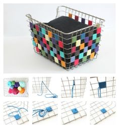Keep It Tidy and Cute with This DIY Checkered Yarn Bin - thegoodstuff