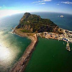 Vista aérea del Faro Natural de Mazatlán, Sinaloa