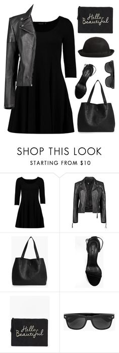 """""""boohoo black"""" by tinkertot ❤ liked on Polyvore featuring Boohoo"""