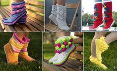 DIY Lovely Crochet Boot Slippers (Video)