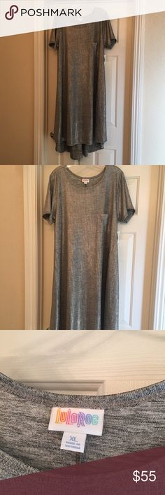 LuLaRoe XL Carly Elegant Collection Silver Beautiful LuLaRoe Elegant Carly XL in a gorgeous shimmering Silver BNWT runs large would fit up to a 20 LuLaRoe Dresses