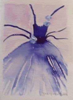 Watercolorcard 2016, sign by Gabriella Alanko