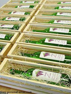vineyard wedding invitations as wine labels...amazing!