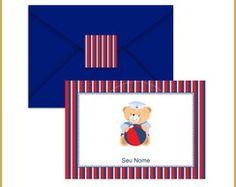 Cartão Duplo - Ursinho Marinheiro