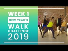 New Year& Walk Challenge 2019 - Week 1 Walking Videos, Fast Walking, Brisk Walking, Walking Plan, Walking Exercise, Walking Workouts, Easy Workouts, At Home Workouts, Workout Videos