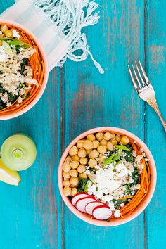 kale power bowl with green goddess dressing