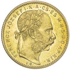 8 Forint 1890 KB mit Fiumewappen