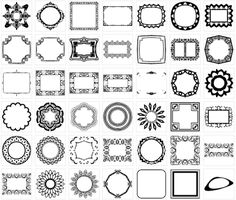Simple Circle Frames, 9 inch Round Clip Art Border Digital