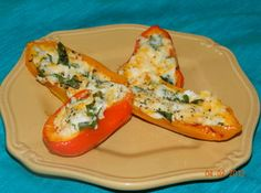 Spinach and Cheese Stuffed Mini Sweet Peppers Recipe | Just A Pinch Recipes