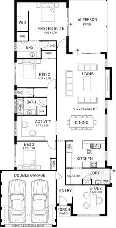 Oakbella, Single Storey Modern Floor Plan, WA