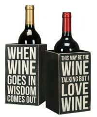 Primitives By Kathy Single Wine Bottle Holder - Whimsical Wine Box Sign Measures x x of wood^Perfect for the avid wine drinker^This is a Single Bottle Wine Holder. Picture is showing both sides of the wine holder. Wine Theme Kitchen, Kitchen Decor, Kitchen Dining, Kitchen Ideas, White Wooden Box, Decorated Wine Glasses, Wine Signs, Wine Decor, Wine Bottle Holders