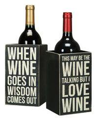 Box Sign Wine Box - Single