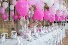 Pink Wedding Decorations, Baby Shower Decorations, Wedding Favors, Balloon Columns, Balloon Arch, Helium Balloons, Latex Balloons, Barbie Party, Balloon Centerpieces