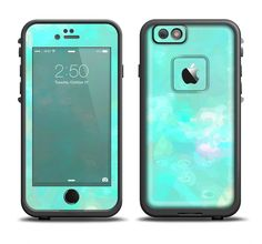 The Bright Teal WaterColor Panel Apple iPhone 6/6s Plus LifeProof Fre Case Skin Set from DesignSkinz