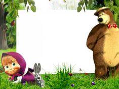 Free photo frames online. Category: Masha and bear