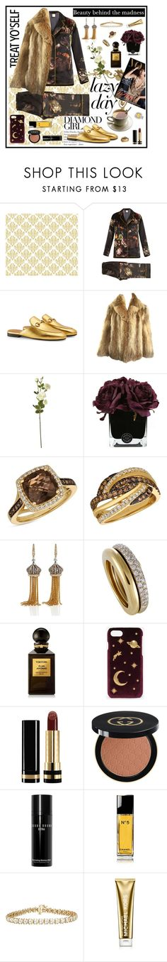 """""""Extra lazy days"""" by samsinjsh ❤ liked on Polyvore featuring MORPHO + LUNA, Gucci, OKA, Hervé Gambs, LE VIAN, Annoushka, Tom Ford, CHARLES & KEITH, Bobbi Brown Cosmetics and Chanel"""