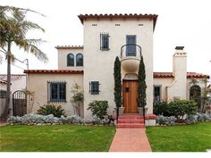 Image result for california spanish architecture los angeles parapet roof