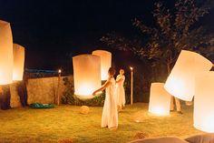 Keryn & Bryce   floating celebration lanterns   photo by Corbin Gurkin - via Snippet & Ink