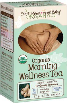Organic morning wellness tea, Earth mama - Angel baby  Wanneer elke geur plotseling een uitdaging wordt en ochtendmisselijkheid zich niet alleen tot de ochtend beperkt dan is deze thee een verlichting om de dag door te komen!