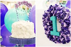 a party ALL around purple balloons & on a budget. {love}