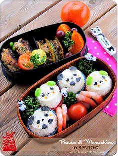 Panda & Mameshiba Bento