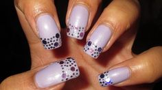 Pastel & Glitter French Tip Nail Art Tutorial (Nail Art April 2014 #3)