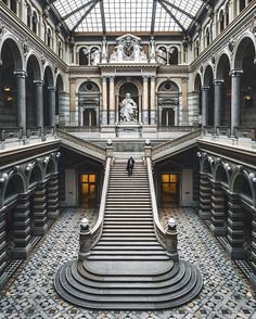 Architecture Photography by Arnaud Jolois Baroque Architecture, Beautiful Architecture, Beautiful Buildings, Interior Architecture, Beautiful Places, Japanese Architecture, Beautiful Pictures, Grand Staircase, Stairways