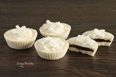 Coconut Dream Cups (Paleo, Low Carb, Dairy Free) Sweeten with stevia instead of honey.  THM~ S