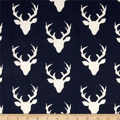 Hello Bear Buck Forest Twilight Art Gallery Fabric Choose