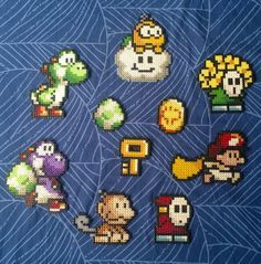 Yoshi's Island Perler Bead Characters Enemies and by GameAddicts, €2.50