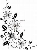 Image Result For Flower Outline Border