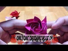 達人折りのバラの折り紙 04 Only one origami rose 04 - YouTube