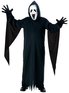 Party with Kids Screaming Ghost Costume. Fresh stock of Ghost Costumes for Halloween at PartyBell. Childrens Halloween Costumes, Ghost Costumes, Halloween Kids, Costume Halloween, Halloween Projects, Halloween Masks, Happy Halloween, Black Hooded Robe, Scream Costume