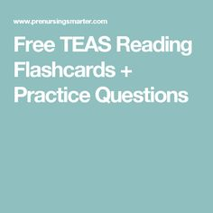 image regarding Printable Teas Practice Test identify 16 Great TEAS pictures in just 2018 Ati teas, Research, Teas 6