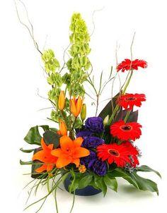 floral arrangments   Modern Pot Flower Arrangement   Florist Sydney Melbourne Brisbane ...