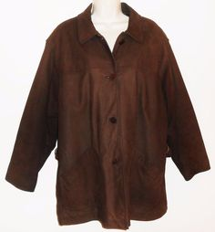 LL Bean L12 14 Brown Leather Jacket Coat Insulated Womens #LLBean #BasicJacket