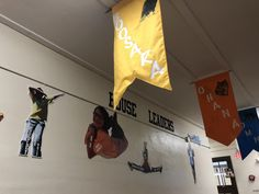 House banners are displayed in a hallway at Corryton Elementary School. Morning Assembly, Ron Clark, Knox County, School Store, 2nd Grade Teacher, School Attendance, Pump It Up, Positive Behavior, Teaching Tools