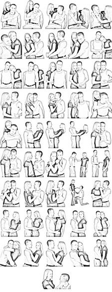 Couples pose reference
