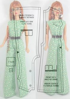 , Maybe you are a beginner sewist trying to find some easy sewing projects, or maybe you're just bu, Sewing Barbie Clothes, Barbie Sewing Patterns, Doll Dress Patterns, Sewing Dolls, Clothing Patterns, Diy Clothes, Ag Dolls, Girl Dolls, Sewing Kit