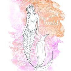Les croquis inutilisés. Mon carnet en ce moment est rempli de croquis non finalisés comme cette sirène... #Mermaid #Sirène #crayon #pencil #dessin #art #illustration #boho #gipsy #fantastic #magic #UnderTheSea #mermaidlife #illustrationclemlittleworld