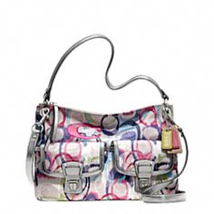 "This Coach handbag brings out the ""colorful fun"" in purses."