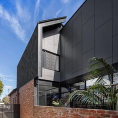 Recycled bricks, asphalt shingles and fibre cement cover the exterior of our Cunningham St project, thanks to our architects Bellemo&Cat! Project by I Built by I 📸 by via Recycled Brick, Asphalt Shingles, Bricks, Cement, Architects, Recycling, Exterior, Cat, Woman