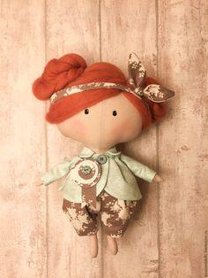 Купить - Кора - тильда - бирюзовый, кукла, кукла Тильда, кукла ручной работы, кукла текстильная