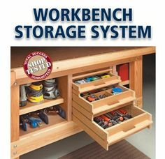 I could totally use this storage under my workbench.