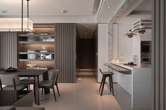 décoration d'intérieur par Fantasia Interior et cuisine ouverte avec bar