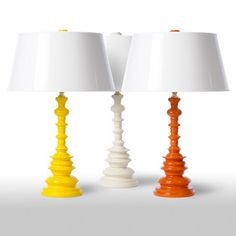 Candlestick Table Lamp in Yellow Orange or White #home #decor #lighting #interiordesign– VF Basic