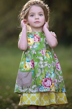 Persnickety Clothing Daffodils & Dandelions Amiah Dress in Yellow Spring 2015 Delivery 2 Girls Summer Outfits, Summer Girls, Girl Outfits, Summer Dresses, Girls Clothing Brands, Clothing Company, Little Girl Dresses, Girls Dresses, Cute Kids