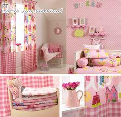 Rosa Kinderzimmer mit Punkten & Karos